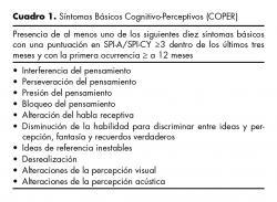 Síntomas Básicos Cognitivo-Perceptivos (COPER).
