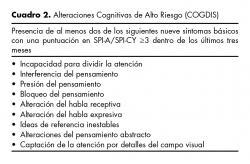 Alteraciones Cognitivas de Alto Riesgo (COGDIS).