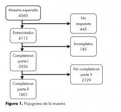 Flujograma de la muestra.